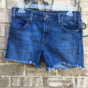 Levi's Cutoff Jean Denim Shorts,  red tab, sz 8 M